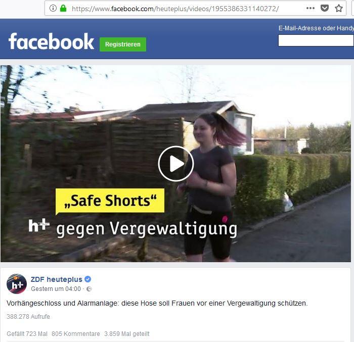 Screenshot eines Videobeitrags von ZDF heute auf Facebook